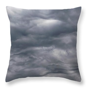 Sky Before Rain Throw Pillow by Michal Boubin