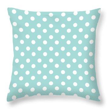 Sky Blue Polka Dots Throw Pillow