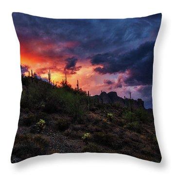 Sky Candy Throw Pillow