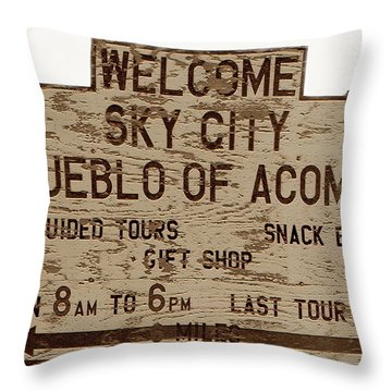 Sky City Sign Throw Pillow by David Lee Thompson