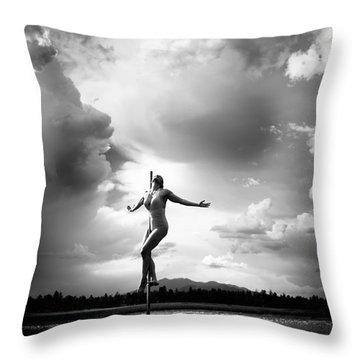 Sky Dancing Throw Pillow