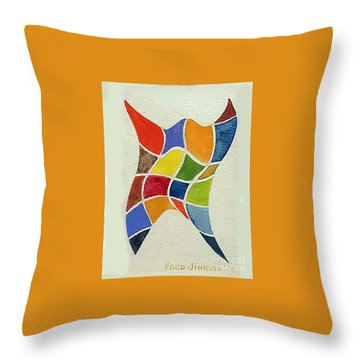 Sky Diver Watercolor Throw Pillow by Fred Jinkins