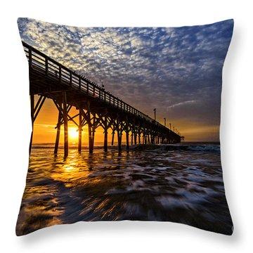 Sky Divided Throw Pillow