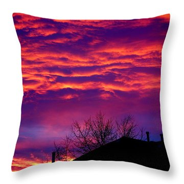 Throw Pillow featuring the photograph Sky Drama by Valentino Visentini