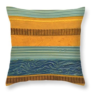 Sky Earth Water  Throw Pillow by Michelle Calkins