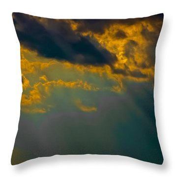 Sky Effects Throw Pillow by DigiArt Diaries by Vicky B Fuller