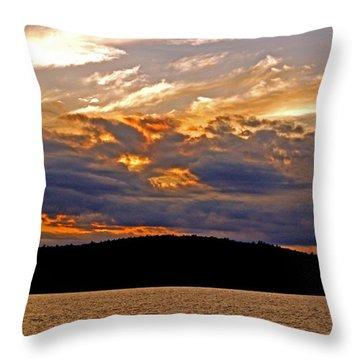 Throw Pillow featuring the photograph Sky Fire by Lynda Lehmann