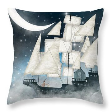 Tall Ships Throw Pillows