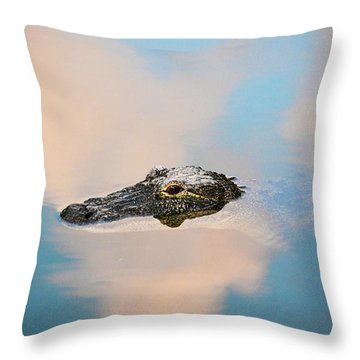 Sky Gator Throw Pillow