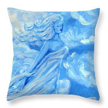 Sky Goddess Throw Pillow by Cassandra Geernaert