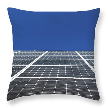 Sky Grid  Throw Pillow by Lyle Crump