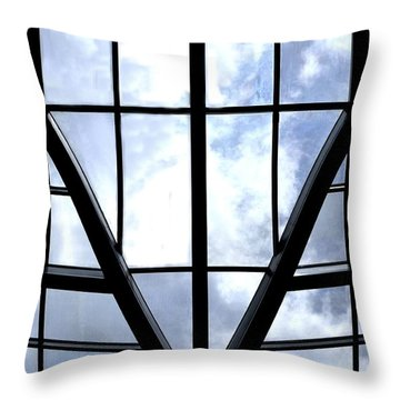 Sky Grid Throw Pillow by Nadalyn Larsen