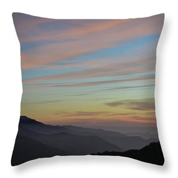 Sky Haze Throw Pillow