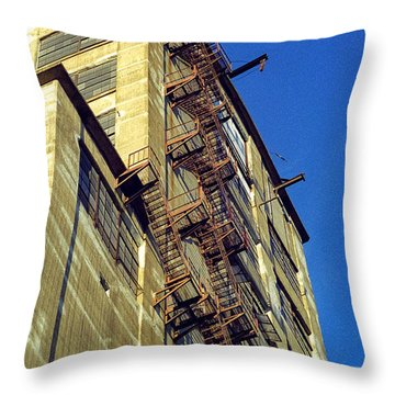 Throw Pillow featuring the photograph Sky High Warehouse by T Brian Jones