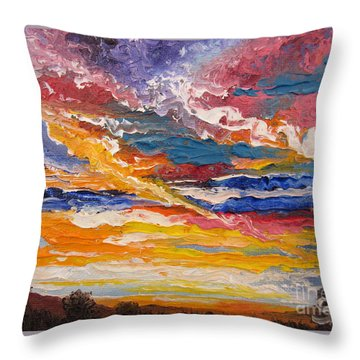 Sky In The Morning Throw Pillow
