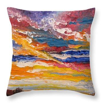 Sky In The Morning.             Sailor Take Warning  Throw Pillow