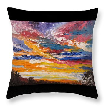 Sky In The Morning.             Sailor Take Warning  Throw Pillow