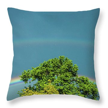 Throw Pillow featuring the photograph Sky Is Falling by Tyson Kinnison