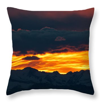 Sky Lava Throw Pillow by Colleen Coccia