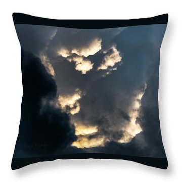Throw Pillow featuring the photograph Sky Life Creator by Steven Poulton