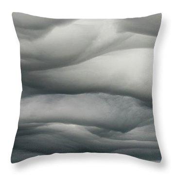 Throw Pillow featuring the photograph Sky Life Undulatus Asperatus by Steven Poulton