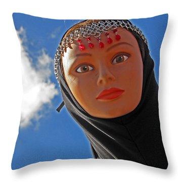 Sky Maiden Throw Pillow
