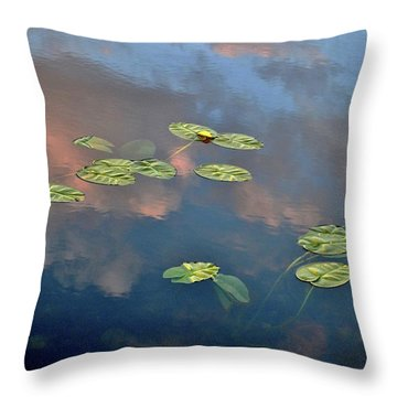 Sky Meets Water Throw Pillow