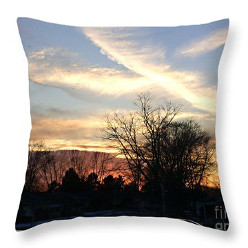 Throw Pillow featuring the photograph Sky Message by Desline Vitto