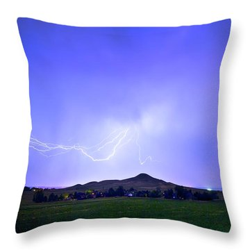 Throw Pillow featuring the photograph Sky Monster Above Haystack Mountain by James BO Insogna