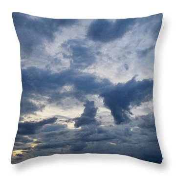 Throw Pillow featuring the photograph Sky Moods - Happenings by Glenn McCarthy Art and Photography