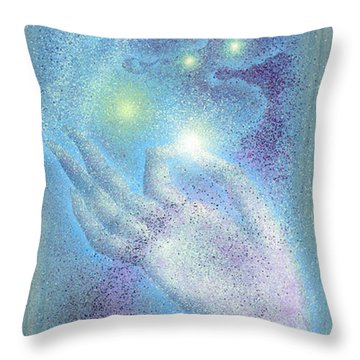 Sky Mudra Throw Pillow