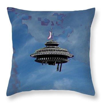 Sky Needle Throw Pillow by Tim Allen
