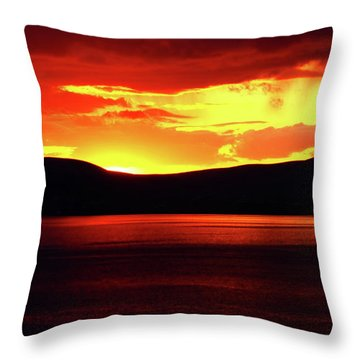 Sky Of Fire Throw Pillow