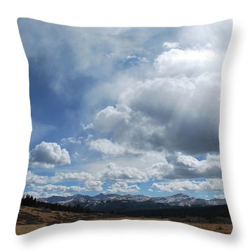 Sky Of Shrine Ridge Trail Throw Pillow by Amee Cave
