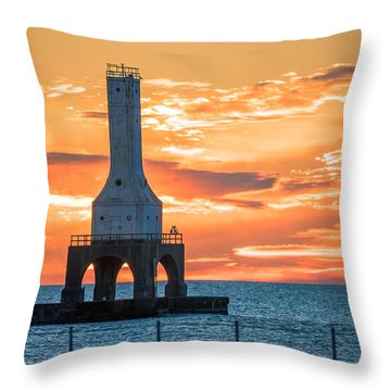 Sky On Fire Throw Pillow by James Meyer