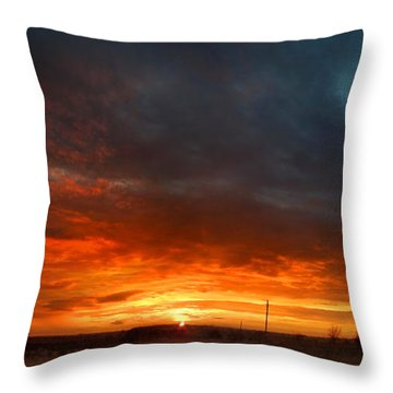 Throw Pillow featuring the photograph Sky On Fire by Rod Seel