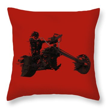 Throw Pillow featuring the mixed media Sky Rider by Shane Bechler