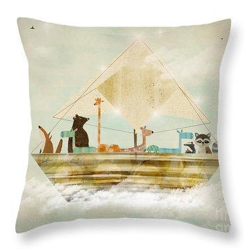 Sky Sailers Throw Pillow