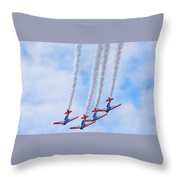 Sky Squadron Throw Pillow