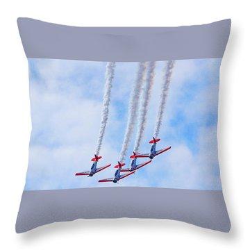 Sky Squadron Throw Pillow