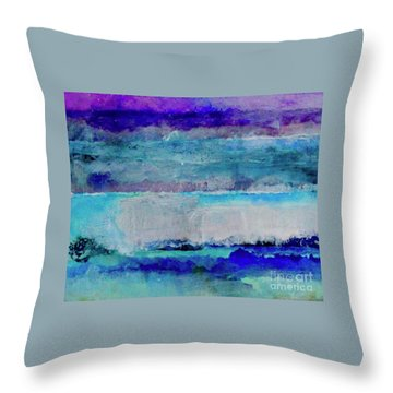 Sky Striations Throw Pillow