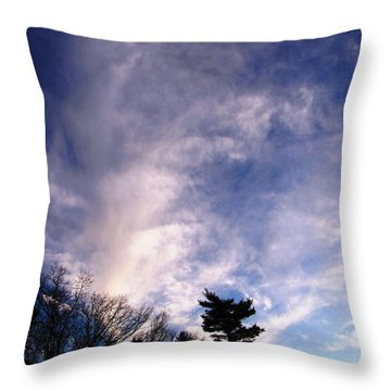 Sky Study 2 3/11/16 Throw Pillow by Melissa Stoudt