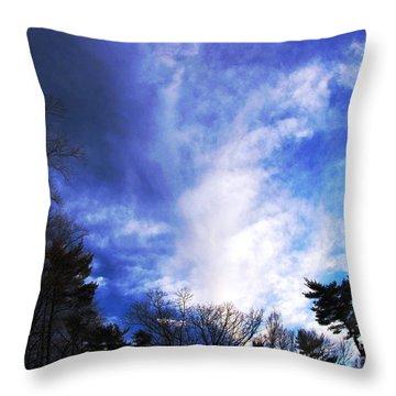 Sky Study 4 3/11/16 Throw Pillow