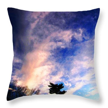 Sky Study 5 3/11/16 Throw Pillow by Melissa Stoudt