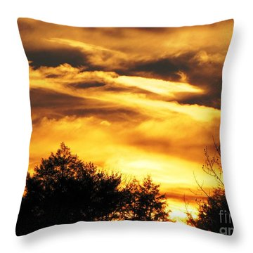 Sky Study 7 3/11/16 Throw Pillow by Melissa Stoudt