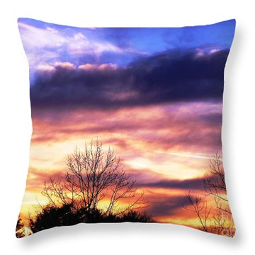 Sky Study 8 3/11/16 Throw Pillow by Melissa Stoudt