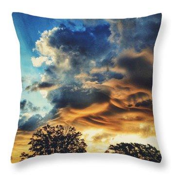 Sky Surf Throw Pillow by Nikki McInnes
