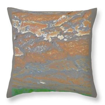 Sky The Color Of Trees Throw Pillow by Lenore Senior