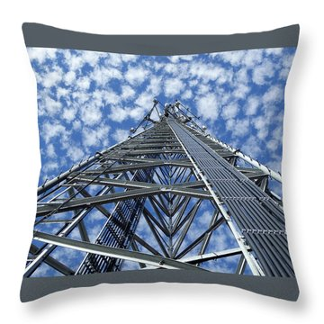 Throw Pillow featuring the photograph Sky Tower by Robert Geary