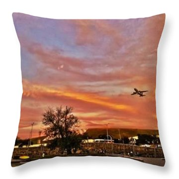Sky Track #instasampa #ig_saopaulo Throw Pillow by Carlos Alkmin